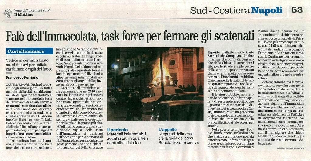 Il Mattino - Francesco Ferrigno (7 dicembre 2012)