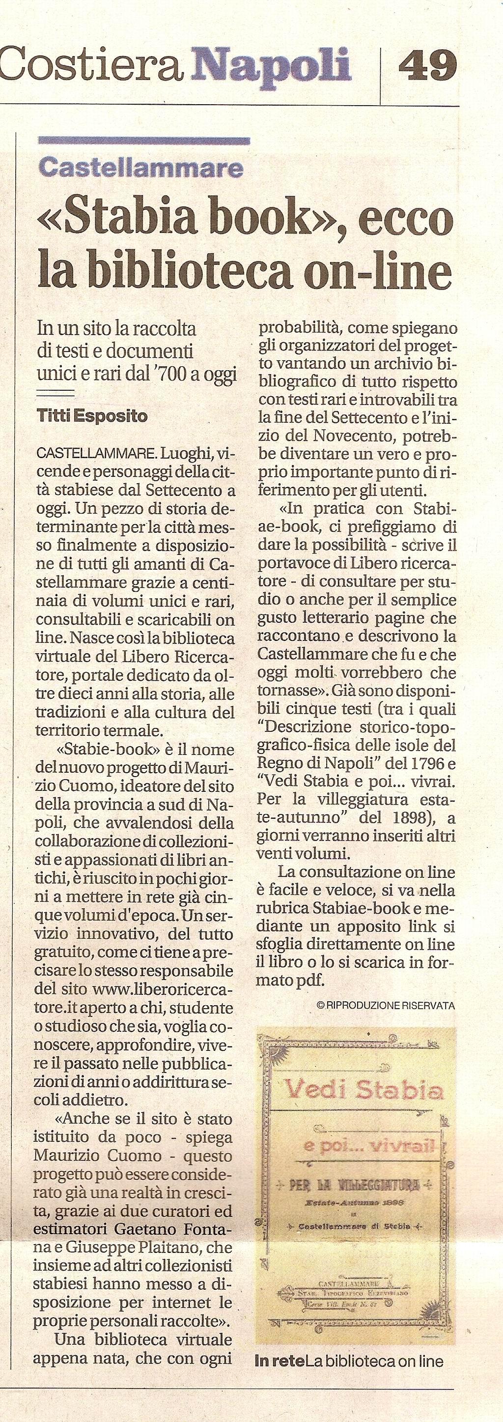 Il Mattino – Titti Esposito (25 marzo 2010)