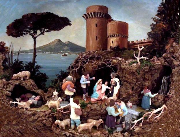 Il presepe del liberoricercatore (applicazione su piatto dipinto, opera del M° Franco Liguori)