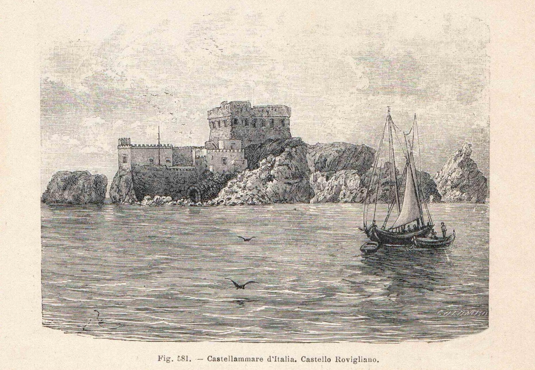 Castello Rovigliano - anno 1901 (coll. Gaetano Fontana)