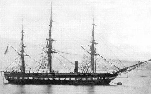 """La pirofregata """"Borbona"""" (foto ufficiale della Marina)"""