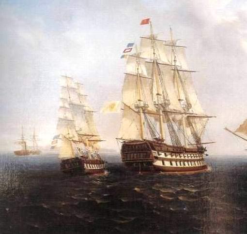 Vesuvio in navigazione (dipinto d'epoca).