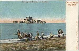 Edit. E. Ragozino, Napoli 2300 - Lo Scoglio di Rovigliano col Castello