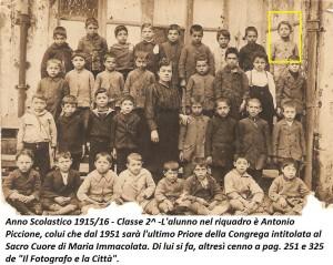 Anno scolastico 1915-16 - collezione privata dott. Tullio Pesola