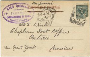 retro di cartolina di fine 1800-inizio 1900, contraddistinta dall'assenza della linea divisoria verticale