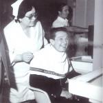 Berlinguer in visita alle terme del Solario