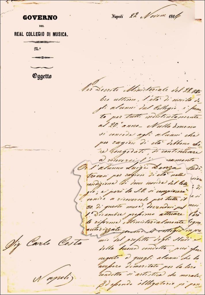 Documento di Luigi Denza