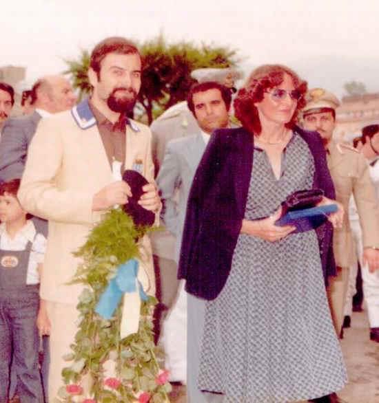 In foto è ritratto Antonio Cimmino (Vicepresidente A.N.M.I. Stabia) e la sig.ra Paola Baffigo