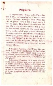 Sacro Cuore di Maria - preghiera sul retro (coll. Enzo Cesarano)