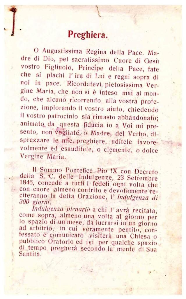 Sacro Cuore di Maria - preghiera sul retro (coll. Enzo Ceasarano)