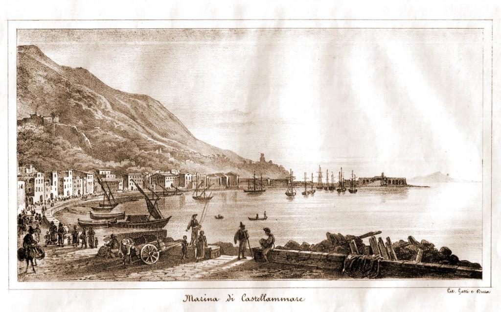 Marina di Castellammare - Gatti & Dura - anno 1842 (coll. Gaetano Fontana)