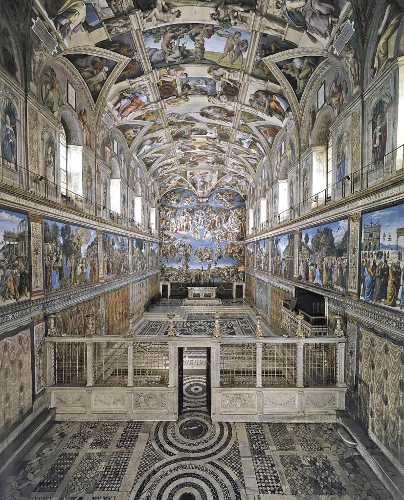 Veduta della Cappella Sistina, Musei Vaticani, Palazzi Apostolici Vaticani