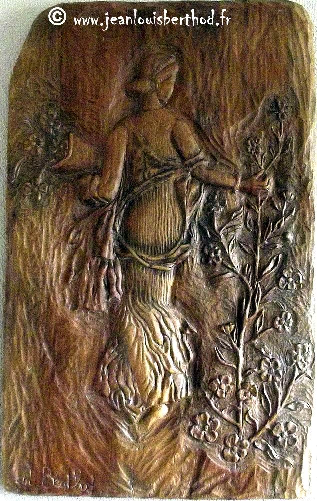 Flora (scultura lignea del M° Jean-Louis Berthod)