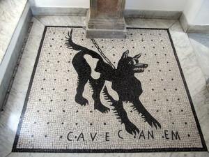 Cave Canem, Villa Munthe, Anacapri