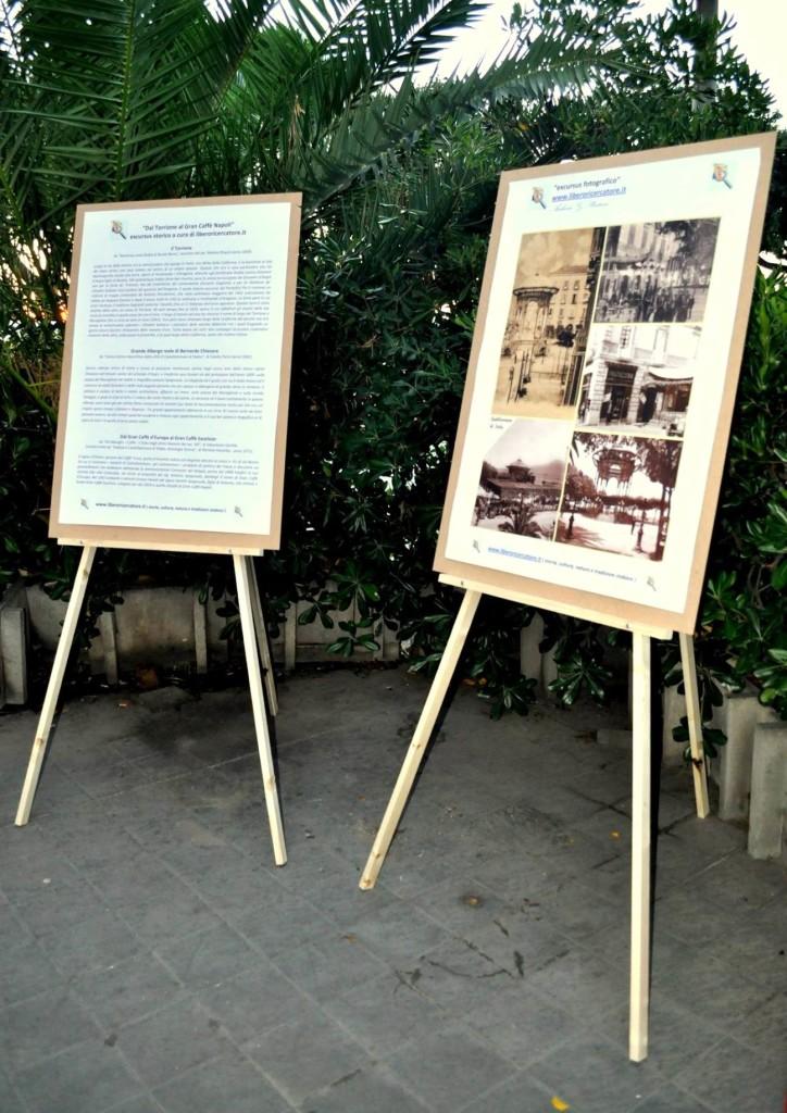 La cartellonistica dell'Excursus storico fotografico del Palazzo Spagnuolo (foto Enzo Cesarano)