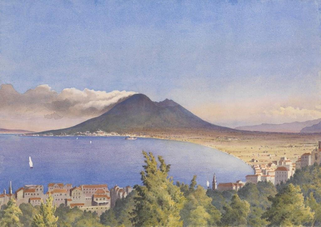 La Baia di Napoli da Castellammare (anno 1858)