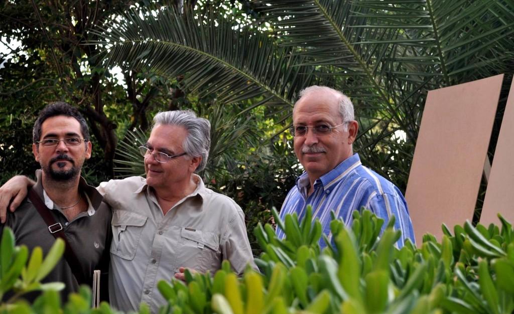Allestimento mostra: Maurizio, Umberto e Peppe (foto Enzo Cesarano)