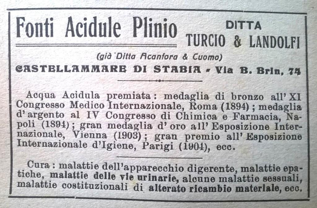 Fonti Acidule Plinio (anno 1923)