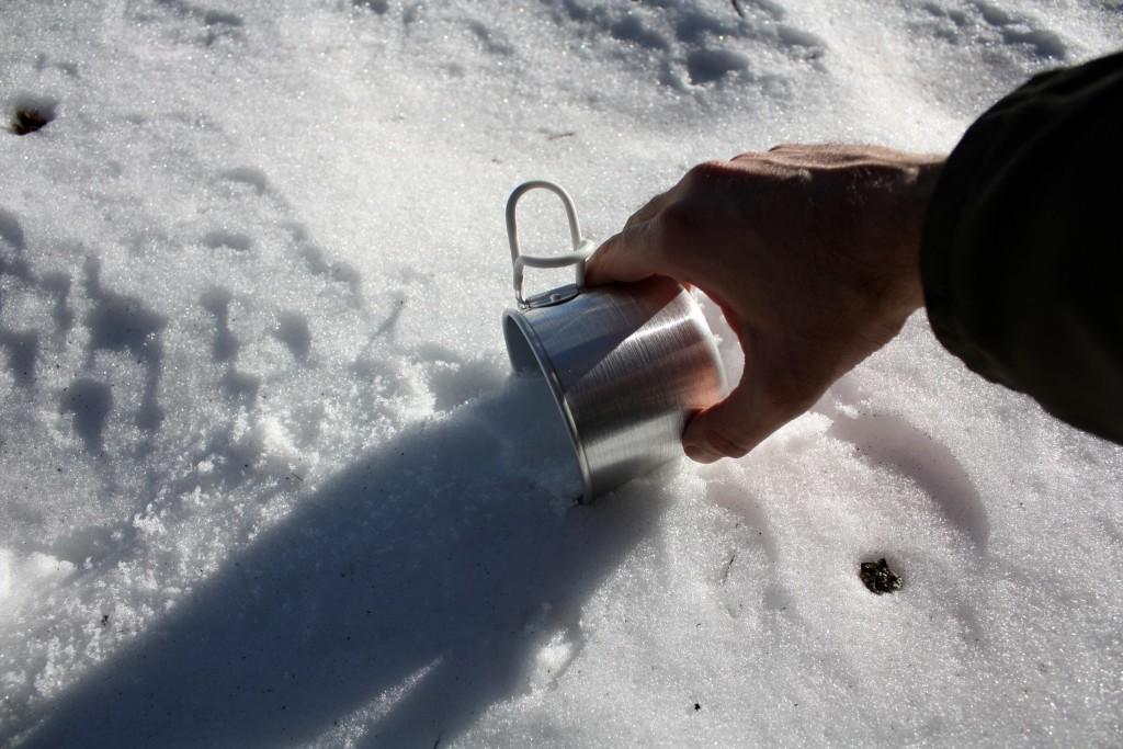 La neve del Faito, ingrediente naturale per il nostro gustoso brindisi (foto Maurizio Cuomo)