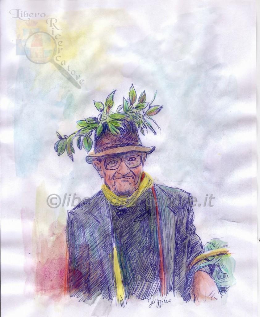 Un acquerello di Carlucciello del ritrattista gragnanese Pasquale Iozzino
