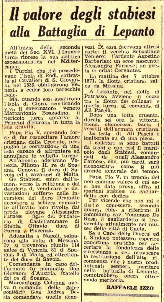 Il Risveglio di Stabia - Anno XIII Numero 5 – Sabato 22 Marzo 1947