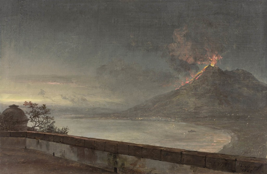 View of Vesuvius from Villa Quisisana (J.C. Dahl)