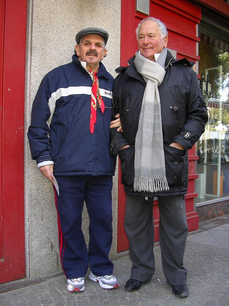 Aniello Lascialfari con Rafele Hitler - 17 febbraio 2008 (foto Maurizio Cuomo)