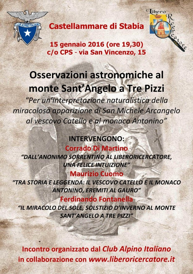 Osservazioni astronomiche al Monte Sant'Angelo a Tre Pizzi