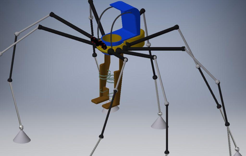 Esoscheletro ragno salticida