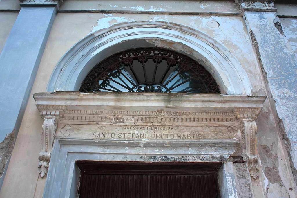 Frontespizio della chiesa di Santo Stefano (foto Maurizio Cuomo)