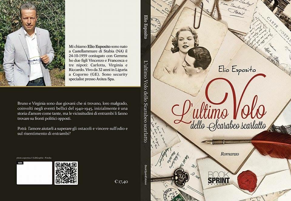 """Lo stabiese Elio Esposito, presenta: """"L'ultimo volo dello scarabeo scarlatto"""""""