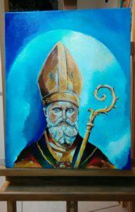 San Catello - dipinto del maestro Pio Napolitano