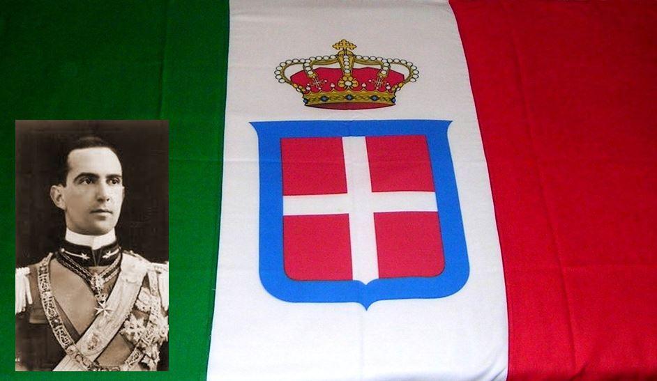 Tricolore con Umberto II, principe ereditario