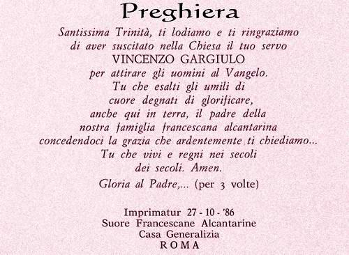 Preghiera per Don Vincenzo Gargiulo