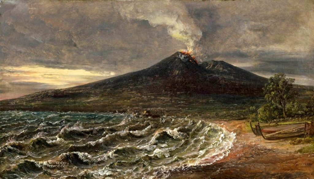 View of Vesuvius from the coast of Castellammare - Dahl