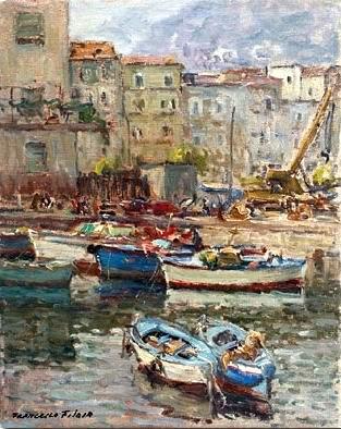Francesco Filosa - Barche di pescatori