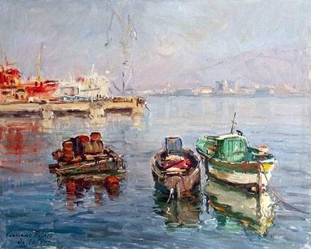 Francesco Filosa - Barche nel porticciolo