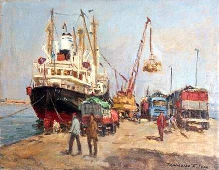 Francesco Filosa - Il porto commerciale