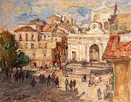 Francesco Filosa - Piazza Municipio negli anni '50