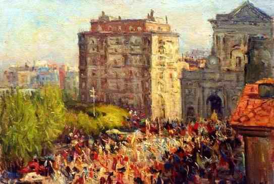 Francesco Filosa - Processione a Piazza Municipio