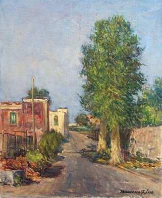 Francesco Filosa - Strada sul fiume Sarno