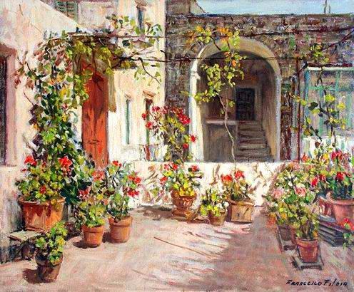 Francesco Filosa - Il terrazzo di casa Filosa