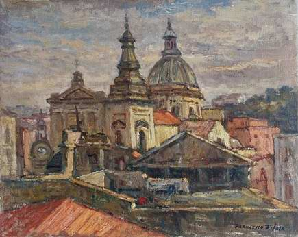 Francesco Filosa - Vista dallo studio del pittore