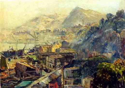 Francesco Filosa - Vista sui cantieri navali