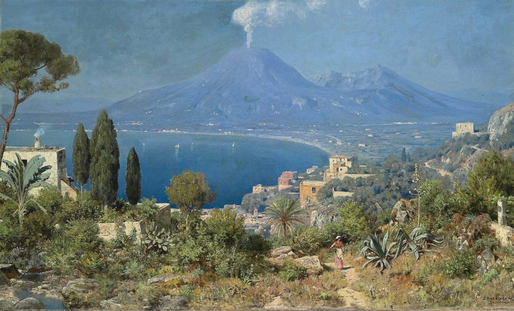 Il Golfo di Napoli al di là del Vesuvio - Edmund Berninger