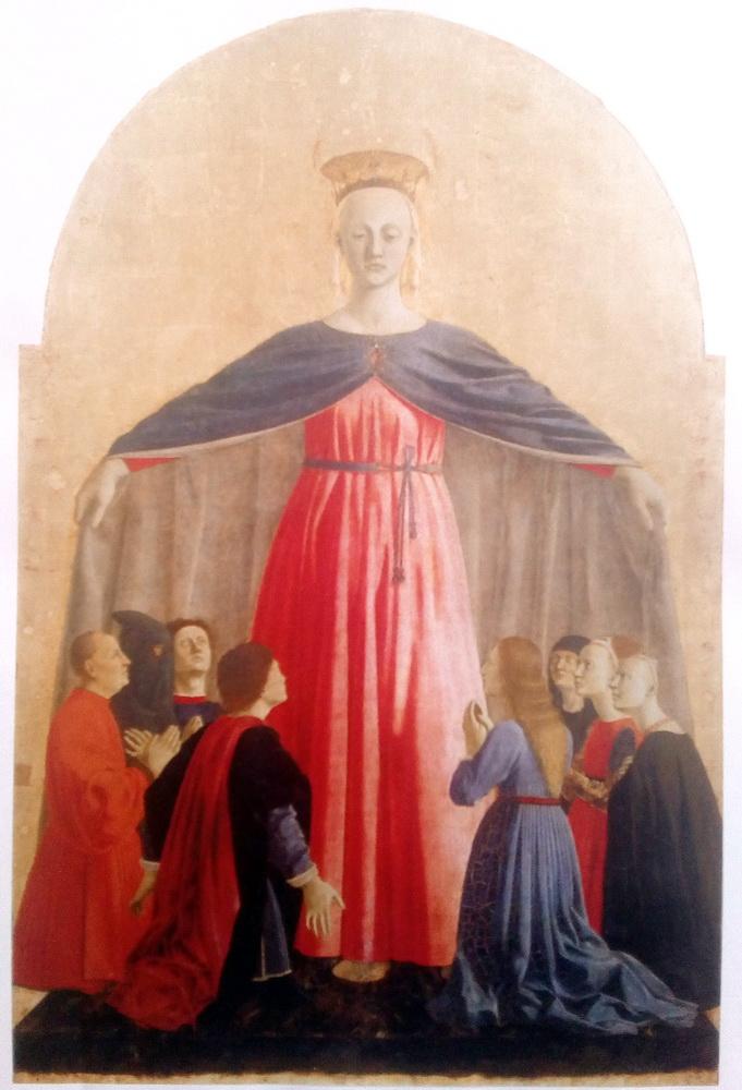 Piero della Francesca, particolare del Polittico del Museo Civico di San Sepolcro, tratto da I Luoghi dell'Infinito, Maggio 2016 pag. 9.