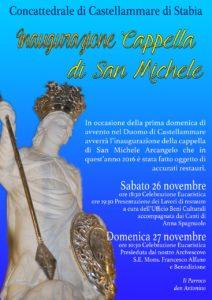 Inaugurazione cappella san Michele (locandina evento)