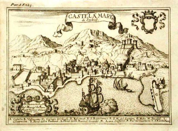 Pacichelli, Castellammare 1701, collezione Gaetano Fontana