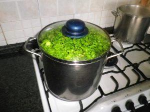 Coprite con un coperchio e mettete a cuocere su fiamma vivace.