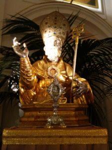 Reliquario custodito nella chiesa della Venerabile Congregazione dei Servi di Maria in Sorrento(si ringrazia per l'immagine il Priore Dott. Diodato Morvillo)